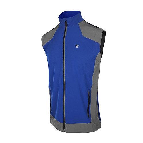 Island Green Ultra Light Windproof Vest, Rich Blue/Black