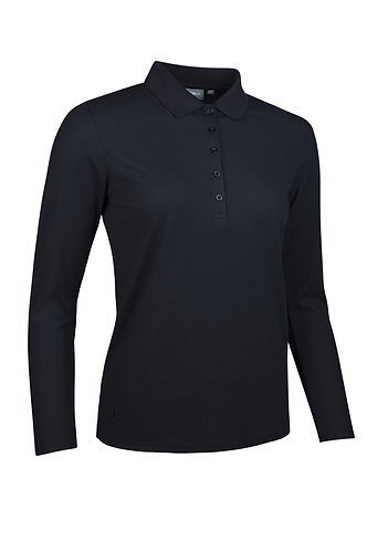 Glenmuir MISHA Long Sleeve Performance Pique Golf Polo Shirt