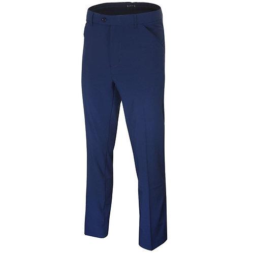 Island Green Stretch Tapered Leg Trousers, Dark Navy