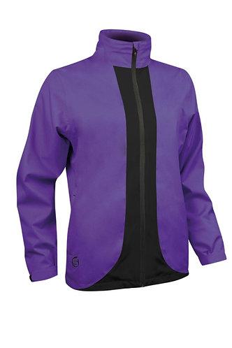Sunderland, MONTANA Contrast Colour Lightweight Waterproof Jacket, Purple/Black