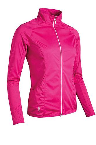 Glenmuir POPPY Ladies Zip Front Water Repellent Golf Jacket, Magenta