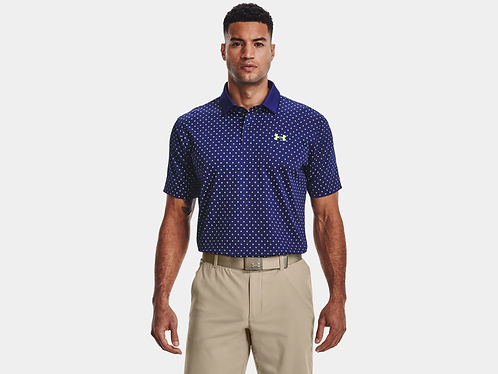 Under Armour Performance Printed Polo, Regal Blue (415)