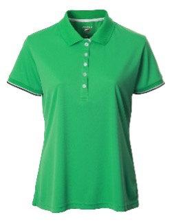 JRB Women's Green Pique Polo Shirt
