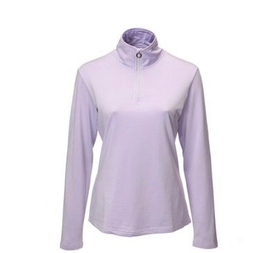 JRB Womens Golf 1/4 Zipped Roll Neck - Lavender