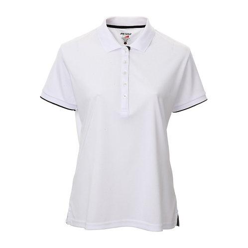 JRB Women's White Pique Polo Shirt
