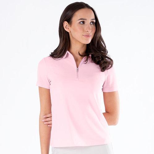 Nivo Nila Short Sleeve Essential Zip Polo