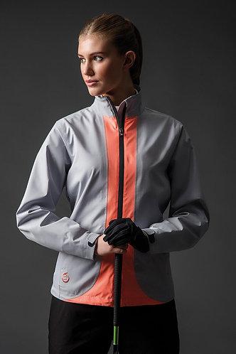 Sunderland, MONTANA Contrast Colour Lightweight Waterproof Jacket, Silver/Coral