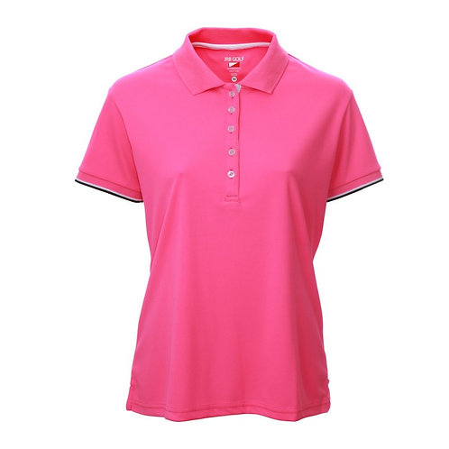 JRB Women's Pink Pique Polo Shirt