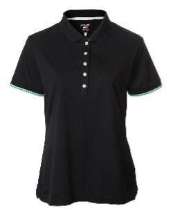 JRB Women's Black Pique Polo Shirt
