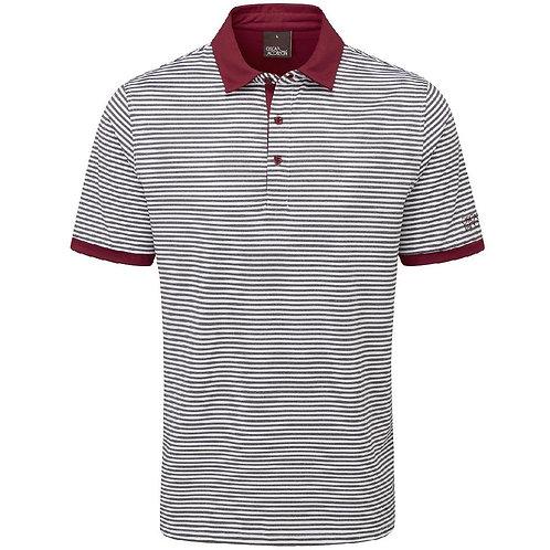 Oscar Jacobson Chester Polo Shirt, White/Burgandy (Dark Red)
