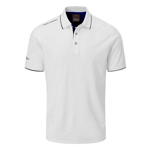 Oscar Jacobson Brandon Polo Shirt, White/Navy