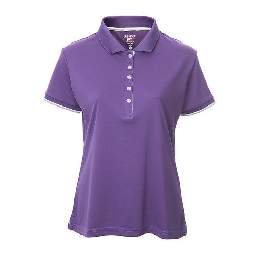 JRB Women's Purple Pique Polo Shirt