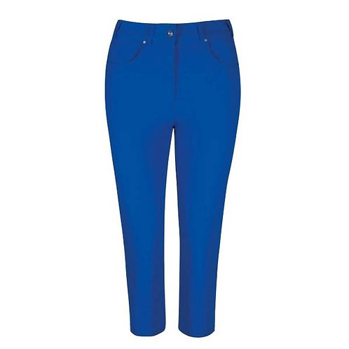 Glenmuir KENDRA Lightweight Stretch Performance Golf Capri Pants, Ascot Blue