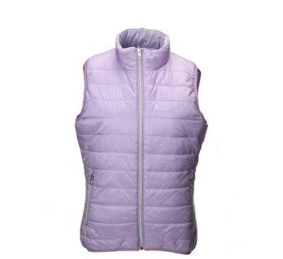 JRB Womens Golf Gillet - Lavender / Lavender Check