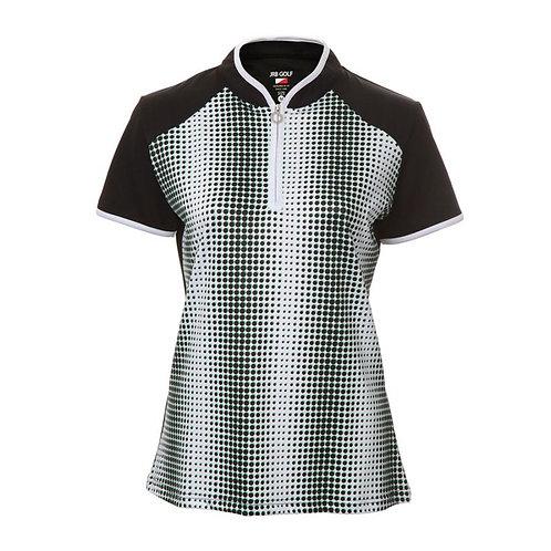 JRB Women's Black Spot Polo Shirt