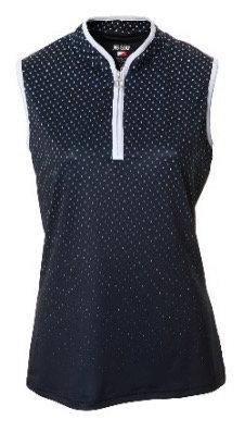 JRB Women's Navy/White Sleeveless Polo Shirt