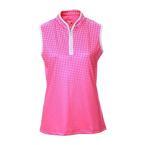JRB Women's Pink Spot Sleeveless Polo Shirt