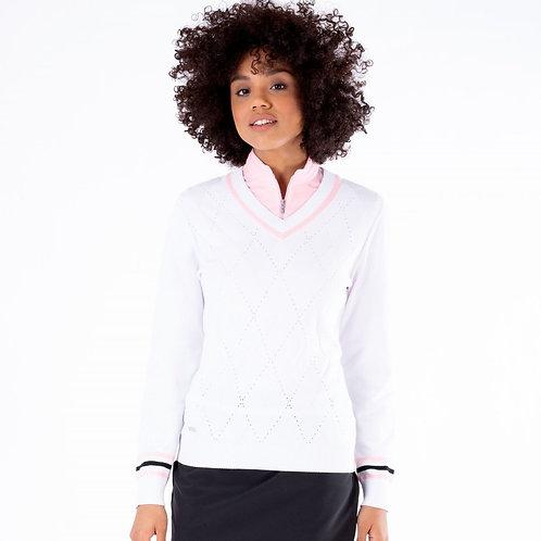Nivo Bonnie V Neck Cotton Sweater