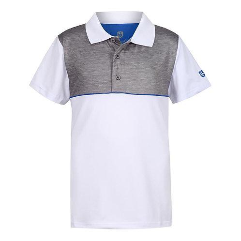 Island Green Highlight Print Polo Shirt, White