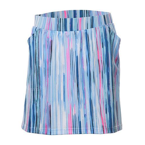 JRB Women's Pull On Skort - Blue Stripes