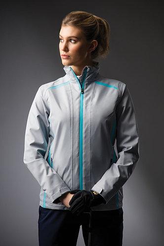 Sunderland, KILLY Zip Front Lightweight Panelled Waterproof Jacket, Silver/Aqua