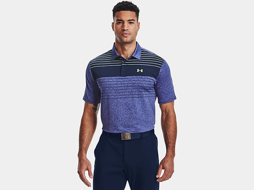 Under Armour Playoff Polo 2.0, Academy Blue/Lime (436)