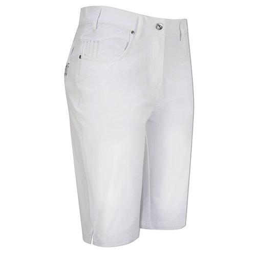 Glenmuir LOTTIE Ladies Lightweight Stretch Performance Golf Shorts, White