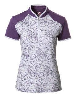JRB Women's Purple Twirl Polo Shirt.