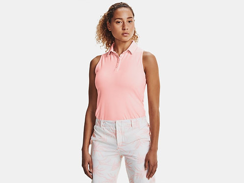 Under Armour Zinger Sleeveless Polo, Beta Pink