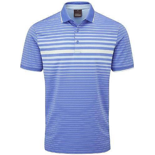 Oscar Jacobson Drayton Polo Shirt, Mid Blue/ Sky Blue