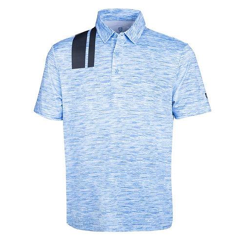 Island Green Island Green Men's Racing Print Golf Shirt, Sky/Navy