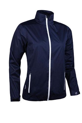 Sunderland Whisperdry Lightweight Waterproof Golf Jacket, Navy/White