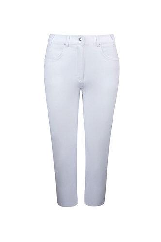 Glenmuir KENDRA Ladies Lightweight Stretch Performance Golf Capri Pants, White