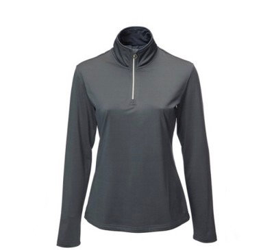 JRB Womens Golf 1/4 Zipped Roll Neck - Charcoal