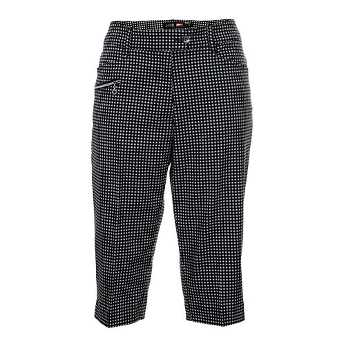 JRB Women's Capri Trousers - Black Gingham