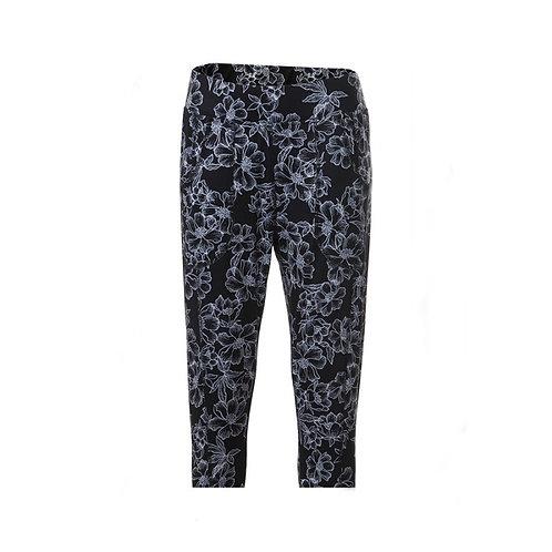 JRB Women's Leggings - Black And Flower Pattern