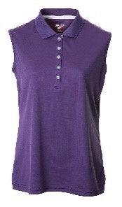 JRB Women's Purple Pique Sleeveless Polo Shirt.