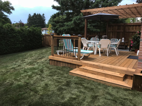 Front Facing View of Deck and Pergola Build