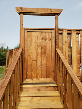 Pool Deck Build 2020 Gate View