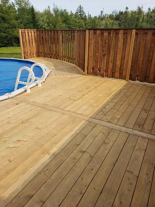 Pool Deck Build 2020 Facing Pool