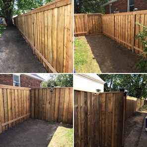 Four Picture of a Custom Built Fence