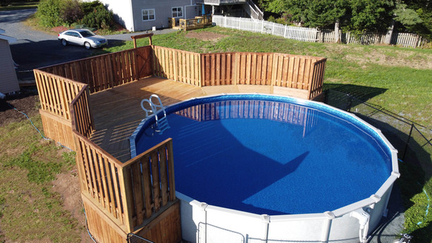 Pool Deck Build 2020 Drone Shot.