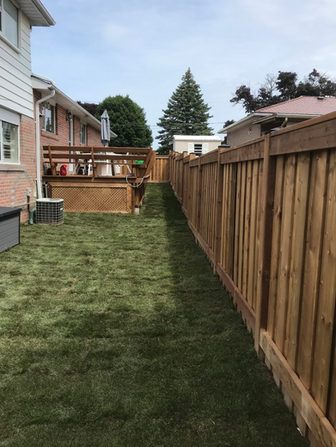 Fence Build with Deck