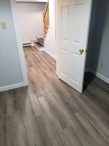 Hallway View on Basement Renovation