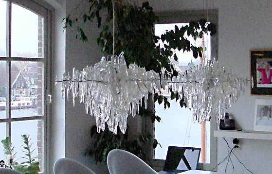 NEONIS-LIGHTING Glacier Twin Diamond Chandelier