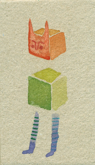 Cubes with legs and horns
