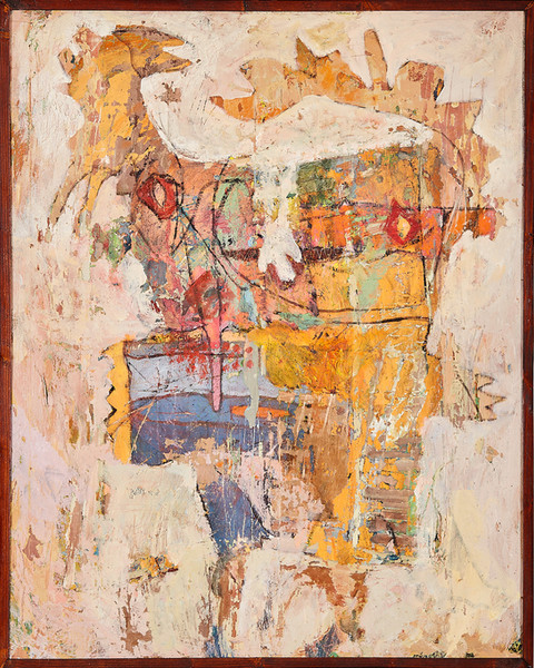 Decaying painting
