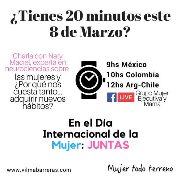 ¿Tienes 20 minutos este 8 de marzo?