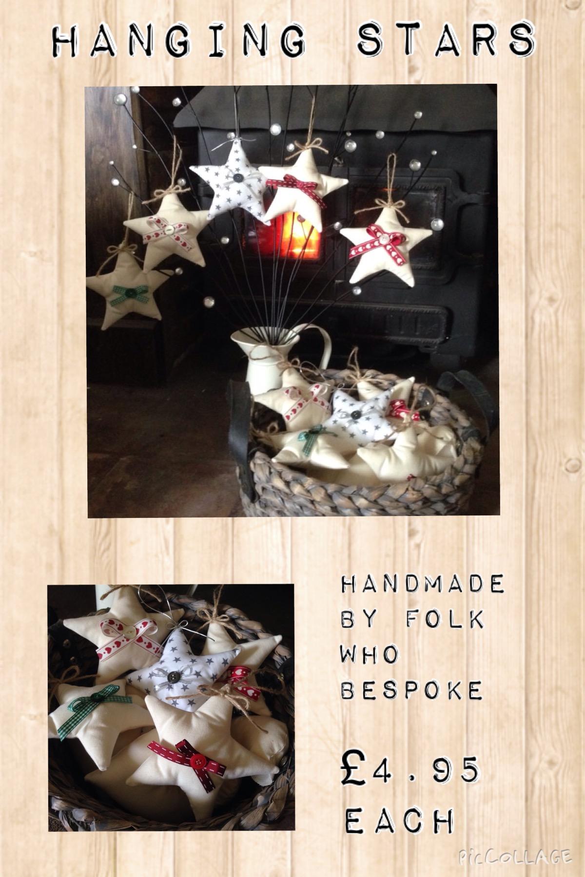 Handmade hanging stars