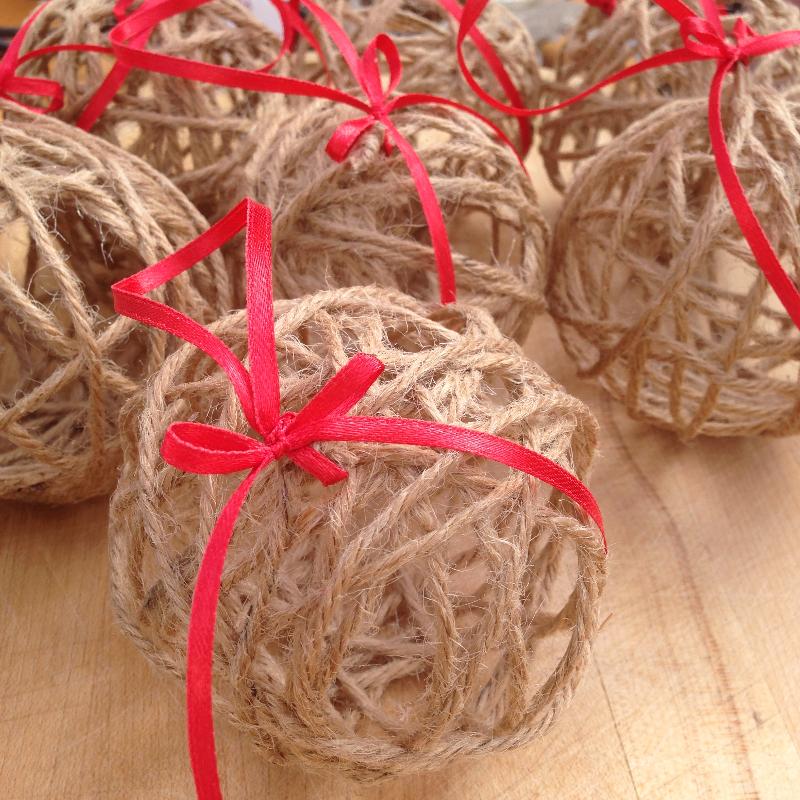 Handmade Twine Baubles